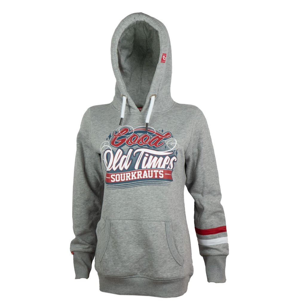 *Limited Edition *Girlyhoody | Good Old Times | Grau Meliert