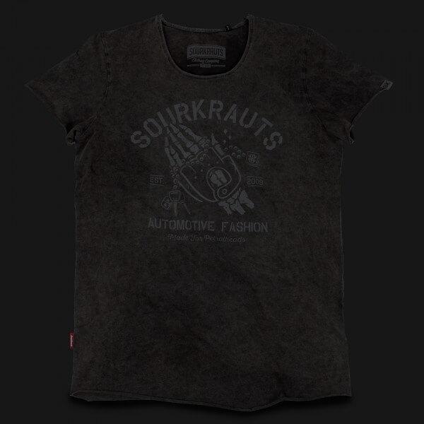 T-Shirt Derek | Schwarz Stonewashed
