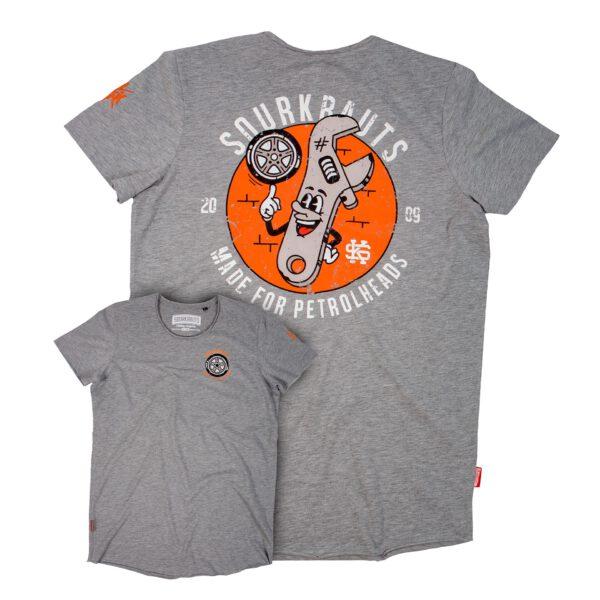 T-Shirt Paolo   Grau Meliert